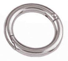Edelstahlring, zweiteilig mit Schnappverschluss 6 mm / 30 mm
