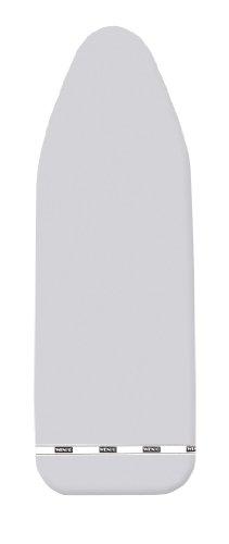 WENKO 1025993100 Bügeltischbezug Ideal Alu Universal – Universalgröße, extra stark, dampfbügelgeeignet, Easy-Clip, 100 % Baumwolle, Silber glänzend