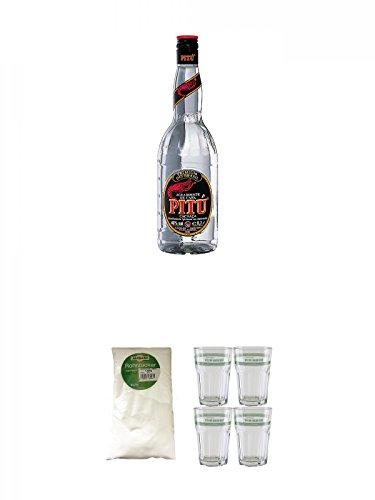 Pitu-Cachaca-10-Liter-Sarkara-weier-Rohrzucker-fr-Cocktails-15-Kg-Velho-Barreiro-Caipirinha-Glas-4-Stck