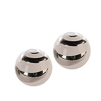 Lifestyle-More-Moderne-Deko-Kugeln-aus-Keramik-2-Stck-weiSilber-Durchmesser-65-cm