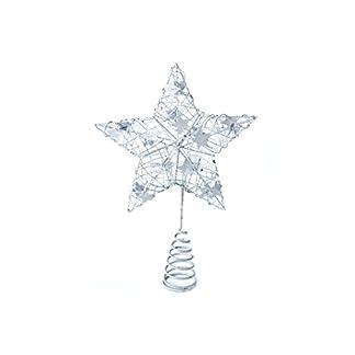 Heitmann-Deco-Weihnachtsbaum-Spitze-Metall-Baumspitze-Stern-in-silber-glitzernder-Blickfang-fr-den-Christbaum