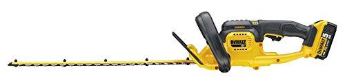 DeWalt-brstenlose-Akku-Heckenschere-Strauchschere-18V-50-Ah-55-cm-Schwertlnge-19-mm-Schnittstrke-inkl-Akku-und-System-Schnellladegert-DCM563P1