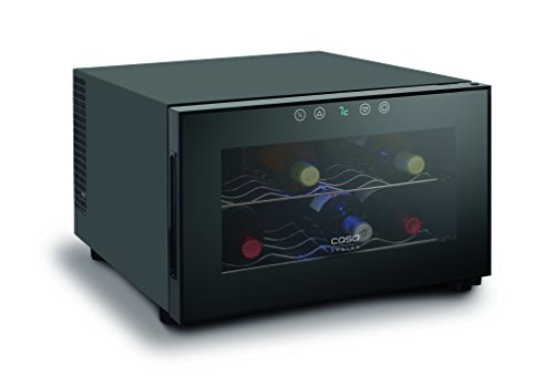 CASO-WineCase-8-Design-Weinkhlschrank-fr-bis-zu-8-Flaschen-bis-zu-310-mm-Hhe-eine-Temperaturzone-7-18C
