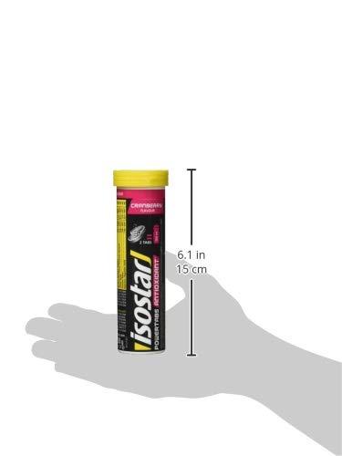 Isostar Powertabs isotonisches Getränk  – Sportdrink für intensives Training – kalorienreduzierter Iso Drink – Cranberry