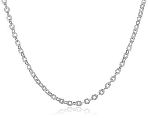 MATERIA feine Ankerkette 925 Sterling Silber – 1mm Halskette silber in 40 45 50 60 70 cm verfügbar #K30