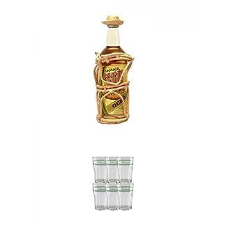 Velho-Barreiro-Cachaca-Chapeu-de-Palha-Gold-07-Liter-Velho-Barreiro-Caipirinha-Glas-6-Stck