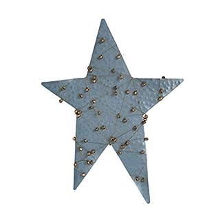Creative-Co-op-Christbaumspitze-aus-Metall-in-Glocken-verpackt-Blau