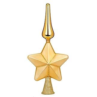 Baumspitze-Glas-29cm-Stern-mit-Glitter-Tannenbaumspitze-Christbaumspitze-Weihnachtsbaumspitze-Deko