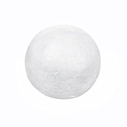 20-X-Wei-Christbaumschmuck-Christmas-Kugel-Modellierung-Handwerk-Styropor-Ball-4cm