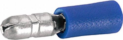 100-x-Rundstecker-HELLA-15-25-mm-5-mm-blau