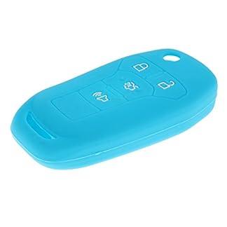 Baoblaze-Auto-Fernbedienung-4-Tasten-Schlsselanhnger-Key-Fob-Case-aus-Silikon-Schlsseletui-Farben-Auswhlen