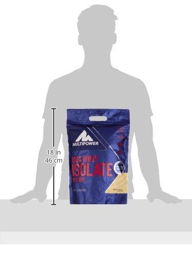 Multipower 100% Whey Isolate Protein – 1,59 kg Pack – Proteinpulver enthält essentielle Aminosäuren (BCAA) – 25 g Eiweiß pro Portion – Eiweißpulver für einen Proteinshake – Vanille
