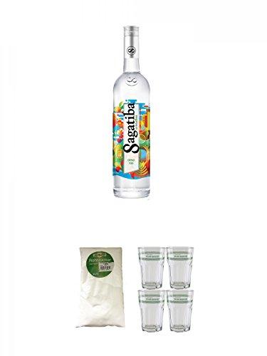 Sagatiba-Cachaca-Pura-07-Liter-Sarkara-weier-Rohrzucker-fr-Cocktails-15-Kg-Velho-Barreiro-Caipirinha-Glas-4-Stck