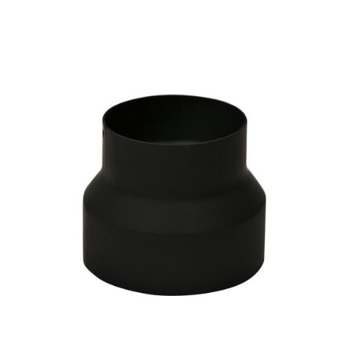 Kamino Flam 331862 Reduzierung, Rohrreduzierung aus Stahl, hitzebeständige Senotherm Beschichtung, geprüft nach Norm EN 1856-2, Schwarz, zum Anschluss von 150 mm in ein 130 mm Rohr