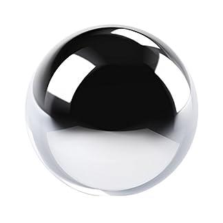XL-Keramik-Deko-Kugel-Tischdeko-D-15-cm-Gren-silber-glatt-glnzend-Ball
