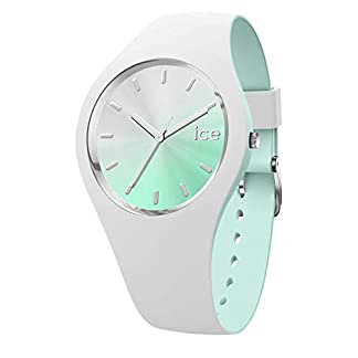 Ice-Watch-ICE-duo-chic-White-aqua-Weie-Damenuhr-mit-Silikonarmband-016984-Medium