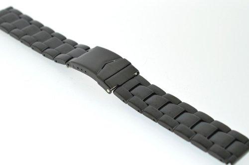 22mm-Eichmller-Edelstahlarmband-M85-matt-schwarz-mit-Sicherheitsfaltschliee