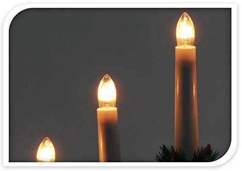 DKB-Holz-Kerzenbrcke-mit-7-Lichter-Lichterbogen-Schwibbogen-weihnachtliche-Lichterdeko-Ohne-Kabel