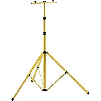 Brennenstuhl-Stativ-fr-Baustrahler-Brobusta-Teleskop-Stativ-fr-Fluter-inkl-Trgerteil-fr-2-Strahler-hhenverstellbar-bis-3-Meter-Farbe-gelb