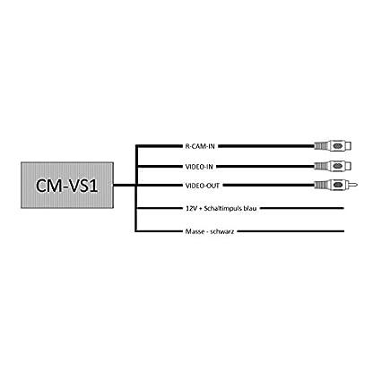 Carmedien-Rckfahrkamera-Switcher-cm-VS1-Umschalter-Umschaltbox-fr-2-Kameras-Twin-Doppel-Rckfahrkameras-Frontkamera-2X-Eingang-1x-Ausgang