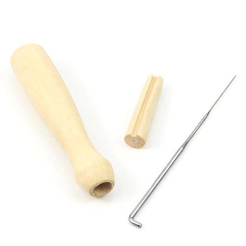 TOOGOO(R) Ein Filz-Nadel hoelzerner Handgriff Halter DIY Werkzeug fuer kreatives Fertigkeit