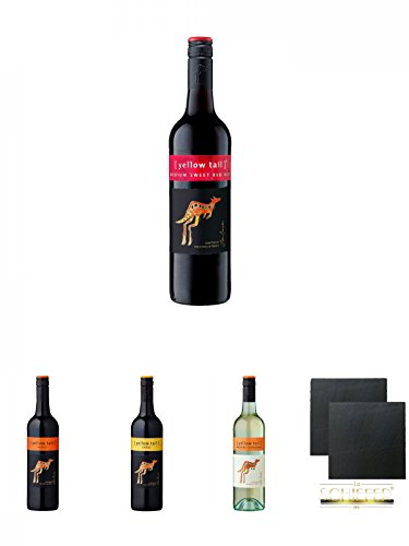 yellow-tail-Medium-Sweet-Red-Roo-075-Liter-yellow-tail-Merlot-075-Liter-yellow-tail-Shiraz-075-Liter-yellow-tail-Unoaked-Chardonnay-075-Liter-Schiefer-Glasuntersetzer-eckig-ca-95-cm–2-Stck