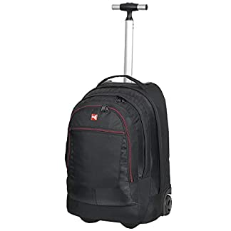 KEANU-Premium-Schultrolley-hochwertiger-XL-Schulrucksack-Rucksack-Driver-Cruiser-Bordgepck-Ranzen-Trolley-Diverse-Motive-Butterfly-Tattoo-Dragon-35-Liter-Organizerfach-Laptopfach