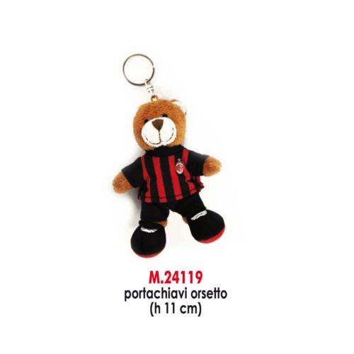 Sportbaer-24119-AC-Milan-Teddy-Keyring-Beige