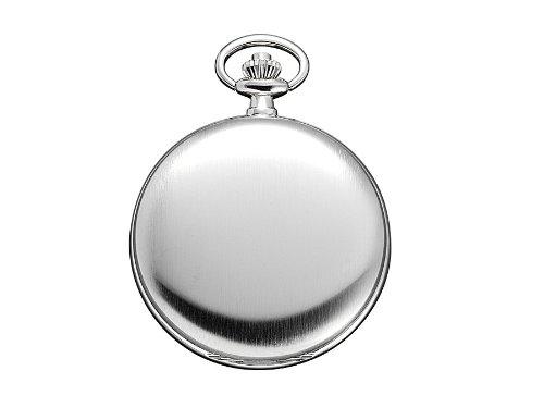 Regent-Taschenuhr-Mechanisch-Silber-Arabisch-P22