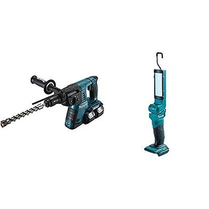 Makita-DHR264Z-Bohrhammer-fr-SDS-Plus-2×18-V-ohne-AkkuLadegert-18-V-Schwarz-Blau