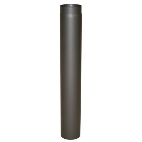 Kamino Flam Ofenrohr gussgrau, Rauchrohr aus Stahl für sichere Ableitung von Verbrennungsgasen, hitzebeständige Senotherm® Beschichtung, geprüft nach Norm EN 1856-2, Maße: L 1000 x Ø 150 mm