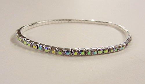 Mont Cherry Markenfußkettchen, Gold-/Silberfarben, mehrfarbige Kristalle, für Hochzeit/Ball/Party, dehnbares Fußkettchen, Fußschmuck,1Fußkettchen von Trendz