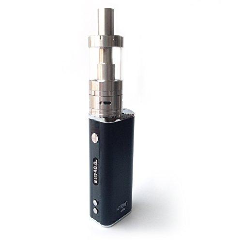WYBAN E Zigarette Dampfen 40W 2200mAh LCD Display Box Mod Akkuträger Elektronische Zigaretten Mit Sub 0.5 Ohm OCC Coil Atomizer Verdampfer Starterset Ohne Nikotin (Schwarz)