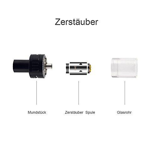 E Zigarette Voll Kit JOMO TECH Royal 30W Starter Ecig Vape Kit Kasten Mod Sub Ohm Tank E-Kits Shisha Stift,Schwarz