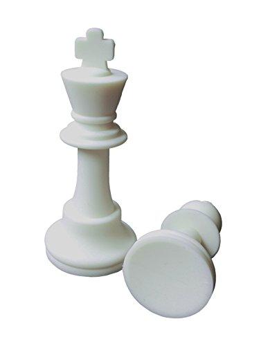 SchachQueen-Schachfiguren-Silikon-Knigshhe-KH-90-mm-schwarzwei