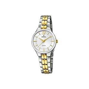 Festina-Damen-Analog-Quarz-Uhr-mit-Edelstahl-beschichtet-Armband-F202171