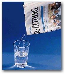 Wasserzeitung-Zaubertrick