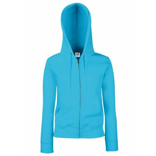 Fruit Of The Loom Lady-Fit Damen Kapuzenjacke / Sweatshirt-Jacke mit Kapuze