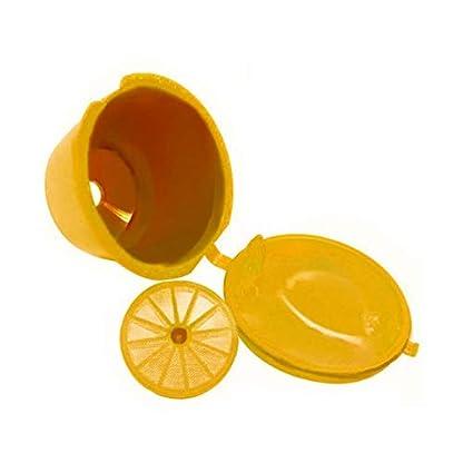 Kleine-Kaffeefilterkrbe-Wiederverwendbare-leere-Kaffeekapseln-Kunststoff-Mehrwegkrbe-Espresso-Filtertasse-Kapselbecher-gelb