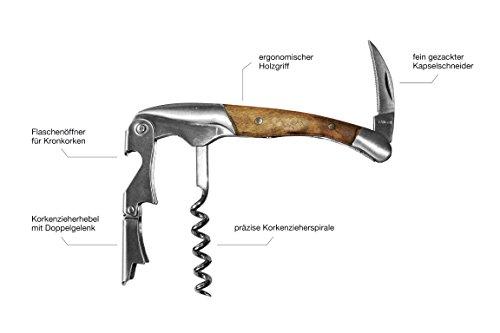 Santorino-Kellnermesser-Exklusives-Sommeliermesser-aus-Campecheholz-Weinffner-mit-2-Stufen-Premium-Korkenzieher-Flaschenffner-in-Geschenkbox