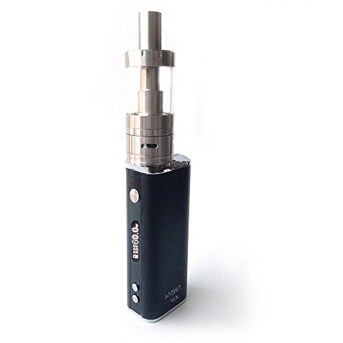 WYBAN E Zigarette Starterset Dampfen E-Zigarette 60W 2200mAh LCD Display Box Mod Akkuträger E Zigaretten Set Miit Sub 0.5 Ohm OCC Coil Atomizer Verdampfer Starterset ohne Nikotin (Schwarz)