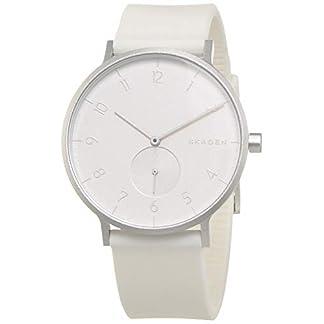 Skagen-Unisex-Erwachsene-Analog-Quarz-Uhr-mit-Silikon-Armband-SKW6520