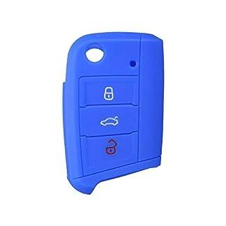 Nicky-Schutzhlle-fr-Golf-7-VII-Neu-Polo-MK7-3-Tasten-Autoschlssel-Klappschlssel-Hlle-Auto-Schlssel-Silikon-Tasche