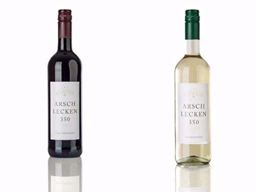 Arschlecken-350-2er-Wein-Set-Rotwein-Zweigelt-Weiwein-Chardonnay-je-075l
