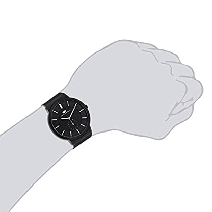 Rhodenwald-Shne-Trademaster-Herrenuhr-Quarzuhr-Edelstahl-schwarzschwarz-3-ATM-Przisions-Quarzwerk-dezentrale-Sekunde-Edelstahlarmband-Milanaise-Silber-Armband-Uhr-analog-Milanaise-Armband