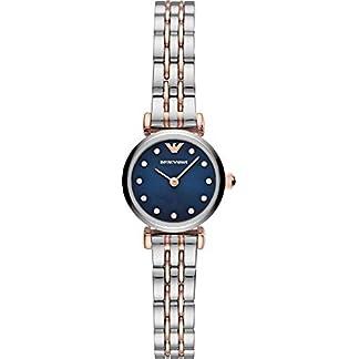 Emporio-Armani-Damen-Analog-Quarz-Uhr-mit-Edelstahl-Armband-AR11222