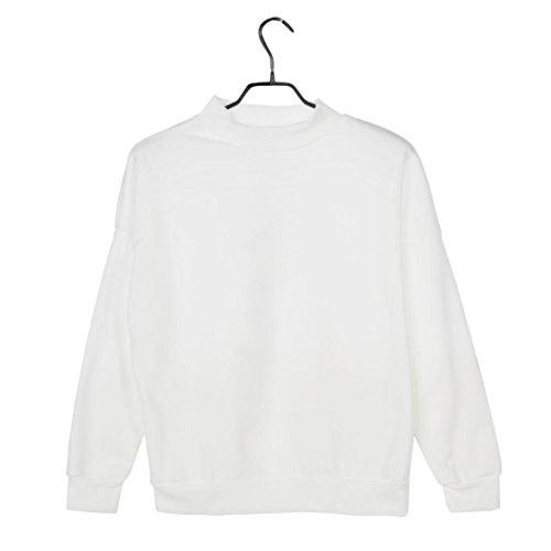 Damen-Blusen-iHee-Damen-O-Hals-Hoodie-Plus-Size-Sweatshirt-Langarm-Pullover-Pullover-Wildleder-Pullover-Tops