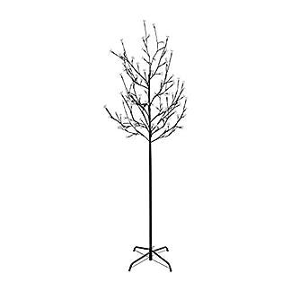 VINGO-LED-Kirschbltenbaum-Sakura-Baum-knstliche-Wei-Bltenbaum-Lichterbaum-Weihnachtsdeko-Gartendeko-Kirschblten-Licht-fr-Weihnachten