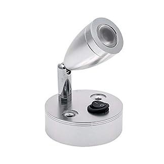 Vosarea-LED-Leseleuchten-mit-gebrstetem-Nickel-Lampenschirm-Warm-Beleuchtung-2-Stck-6000K-3W-12V
