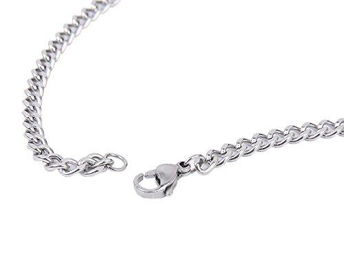 Steampunk 4mm Poliert Curb kubanischen Silber Edelstahl Herren Damen Ketten Halskette 20 Zoll